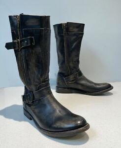 Bed Stu, Cobbler Series Gogo Leather Boot, Distressed, Zip, 9.5 US, BOX, XLNT