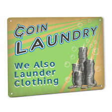 Coin Laundry Room Sign Laundromat Washer Soap Vintage Wall Art Country Cabin