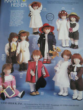 Vtg Karin Heller Doll Ad 10 Models ADVERTISEMENT ONLY/Marc/Annnie/Mary/Laura++
