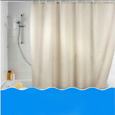 NEW  Pure Color Bathroom Curtain Polyester Waterproof Shower Curtain Set U