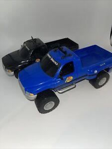 "Dodge RAM 3500 Bass Pro Toy Plastic Truck Tree House Kids 14"" Long 6"" Wide Set"