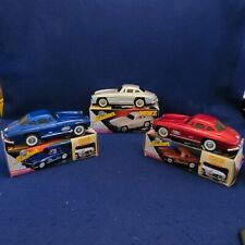 3pc Set Vintage Friction Tin Toy 1956 Mercedes Benz Sedan MF326 w/Box EXC COND