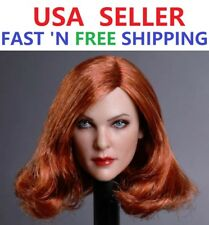 "1/6 Female Head Sculpt Red Hair GC019 B For 12"" SUNTAN Figure Body PHICEN"