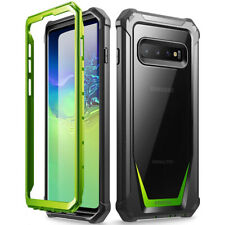 Galaxy S10 Plus Case Poetic® Hybrid Shockproof Clear Back TPU Bumper Green