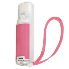 Pink Wii Remote Rubber Battery Door Cover Lid Rubberized for Great Grip + Strap