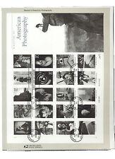 #3649 37c Photography Sheet USPS #0216 Souvenir Page