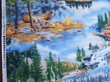 VIP Exclusive Lakeside Camping  quilt sew fabric 45532 B