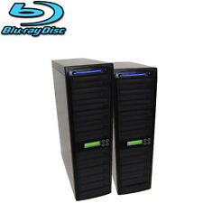 20 Burner Blu-ray BDXL Daisy Chain Duplicator - CD DVD Replication Tower + HDD
