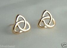 CLASSIC 9ct GOLD CELTIC KNOT STUDS EARRINGS Mums B'day ANNIVERSARY B'day GIFTBOX