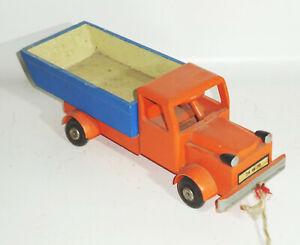 DDR Holz Auto LKW Laster Pritschenwagen Vintage Deko Spielzeug !
