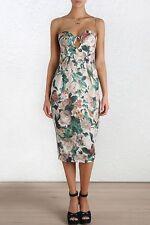Knee-Length Cocktail Floral 100% Silk Dresses for Women