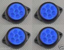 4x 7 LED marquage latéral bleu FEUX 24v Camion Châssis de remorque pour