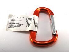 NEW ORANGE HEAVY DUTY SECURELINE KEY CLIP KEY CLIP  RING METAL ALUMINUM NWT