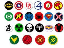 Lot Pack Badge Button Ø25mm Marvel Dc Comics Super Hero