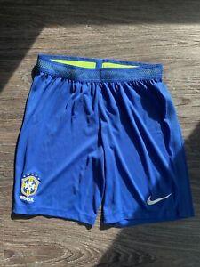 Nike Brazil CBF Stadium Shorts Men's Medium M Blue Volt Game World Cup Brasil