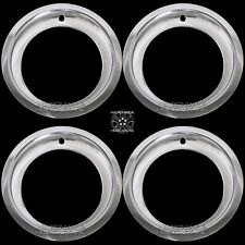 "CHEVY GMC 6 LUG 15"" RALLY WHEEL 3"" DEEP TRIM RINGS BEAUTY RIM RING STEEL WHEELS"