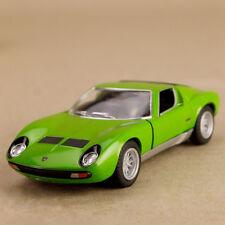 1971 Lamborghini Miura 9700 SV Green 1:34 Scale 12cm Die-Cast Pull-Back Mod Car