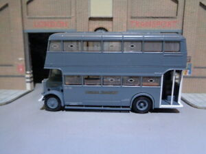 EFE 99203 LONDON TRANSPORT GUY Utility Bus G131 Rte 23 WARTIME SERIES 1/76 B2