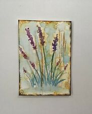 """Lavender With Gold  Artist Trading Cards ACEO Original Painting 2.5"""" X 3.5"""""""