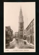 Lincolnshire Lincs STAMFORD St Mary's Church RP PPC by Kingsway