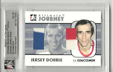 2006-07 BAP ITG ULTIMATE - ED GIACOMIN - DUAL 3 COLOR JOURNEY GAME JERSEYS