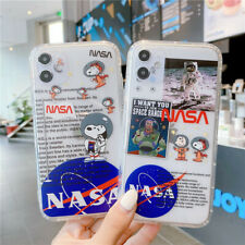Soft TPU Snoopy Astronaut NASA Phone Case Cover For iPhone 7 8 11 Pro XR XS Max