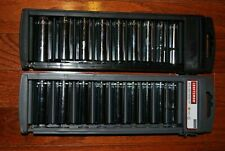 "Craftsman 18-PC 3/8"" Drive 12-pt Inch/Metric Deep Socket Set # 34558."
