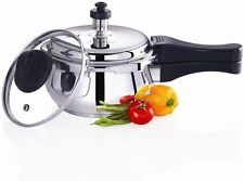 Premier Pressure Cooker With Glass Lid StainlessSteel Handi Induction Bottom1.5L