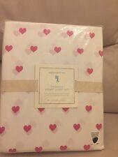 NWT Pottery Barn Kids Heart full sheet set bright pink 4pc Valentines Hearts 💕