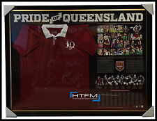 Pride of Queensland State of Origin Captains Signed Jersey Framed x 7 Signatures