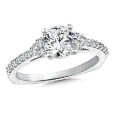 Rings Solid 14K Gold Rings 1.35 Ct Round Solitaire Diamond Engagement