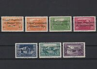 albania 1925 overprint mounted mint stamps ref r13339