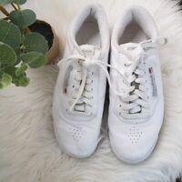 Reebok Classic Princess Leather Low Top Casual Sneaker Shoe Women Size 7.5 White
