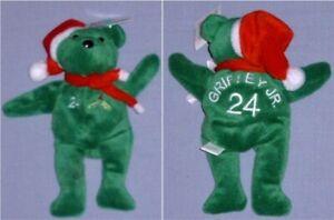 Ken Griffey Jr Christmas Baseball Bamm Beanos Bear- Seattle Mariners