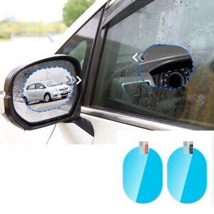 2 x Car Anti Fog Anti-glare Rainproof Rearview Mirror Trim Film Cover Accessory