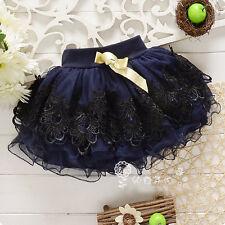 Toddler Baby Girls Summer Lace Floral Bust Skirt Kid Tutu Dress Short Mini Skirt