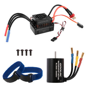 GOOLRC Waterproof BL3650 3900KV Brushless Motor With 60A ESC F/1/10 RC Cars Part