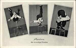 Circus Sideshow Contortionist ARRISON Einmalige Elastiker Postcard GERMAN