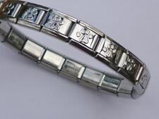 ITALIAN CHARM SILVER DOGS PAW STARTER BRACELET LINK  fits all Italian bracelets