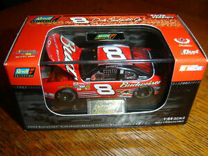 #8 DALE EARNHARDT JR 2002 BUD CHEVY TALLADEGA WIN REVELL H/O W/CASE 1:64 NEW