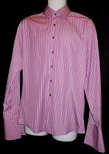 THOMAS PINK GORGEOUS COLORFUL FINE STRIPED F/C DRESS SHIRT PNK7318