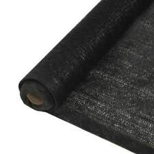 Vidaxl Filet Brise-vue PEHD 1 x 50 M Noir pelouses et Jardins