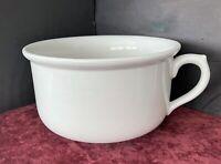 "Antique Australian Hoffman Pottery White Ceramic Chamber Pot w/Handle (8-1/4"")"