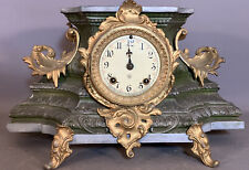 19thC Antique VICTORIAN Ansonia FRENCH FLORAL Type Old MANTEL CLOCK STATUE STAND