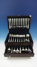 Silver Flutes by Towle Sterling Silver Flatware Set For 12 Service 79 Pieces