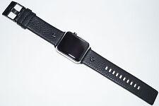 Luxe diesel bande en cuir sangle noir pour apple watch series 1/2 42MM