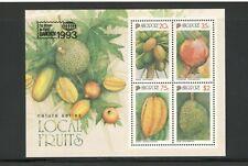 SINGAPORE - FRUITS - SOUVENIR SHEET #669A - MNH - YR 1993