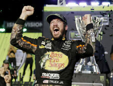 MARTIN TRUEX JR. WINS 2017 MONSTER ENERGY NASCAR  CUP   8X10 PHOTO W/BORDERS