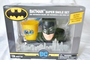 Batman Super Smile Set - toothbrush holder, toothbrush, & rinse cup