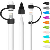 Anti-lost Cap Holder Nib Cover Cable Adapter Tether Kit For iPad Pencil 1st Gen